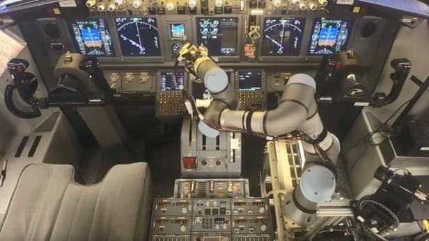 Cobot pilotando aviones
